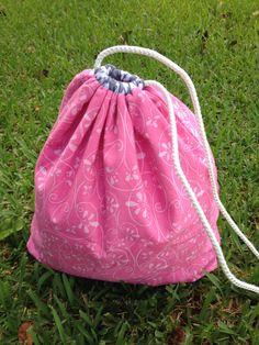 Personalized Drawstring BagWaterproof by DarlenesNeedlesnPins
