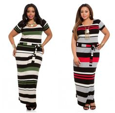 Your favorite striped dress is now available at AshleyStewart.com! #plussize #psfashion #style #fashion