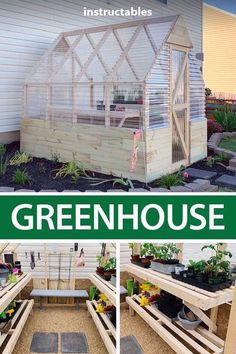 Diy Greenhouse Plans, Backyard Greenhouse, Backyard Farming, Backyard Landscaping, Diy Small Greenhouse, Diy Garden Projects, Outdoor Projects, Garden Ideas, Garden Landscape Design