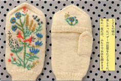 embroidery on knit (or wool) - would be cute for stockings. Mom - posie gets cozy has super cute winter embroidery patterns.