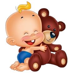 Baby With Teddy Bear - Funny Baby Images