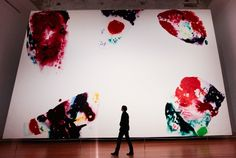 Sam Francis, Berlin Red - Painted in 1969 for the Neue Nationalgalerie - Currently on display in the Martin Gropius Bau as part of the LA art exhibition.