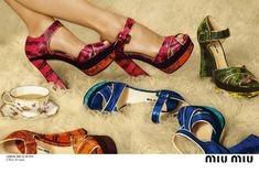 mui mui ad 009 | The star playfully sips tea and tries on shoes while lounging boyishly ...