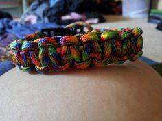 Trippin Rainbow Paracord Bracelet