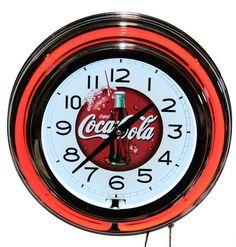 Coca Cola Red Neon Wall Clock New Quartz Lifestyle Lighting