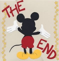 disney scrapbook page ideas | DISNEY SCRAPBOOK -The end - last page | scrapbooking ideas