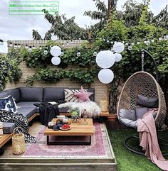 Do you like to design your backyard, as much as we do? I am pretty sure, the answer is yes :-)  Here is an article related with outdoor furniture. Garden Ideas Budget Backyard, Garden Design Ideas On A Budget, Small Patio Ideas On A Budget, Budget Patio, Backyard Patio Designs, Small Garden Design, Yard Design, Easy Garden, Resin Patio Furniture