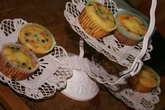Coconut Flour Blueberry Muffins by cheeseslave