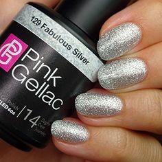 Pink Gellac 129 Fabulous Silver Glitter European SoakOff UV  LED Gel Polish 15ml  05 fl oz *** Learn more by visiting the image link.