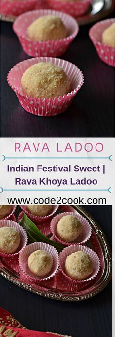 Sooji mawa ladoo is quick and easy Indian sweet to prepare on festivals like Ganesh Chaturthi, Diwali, Janamashtmi or Holi. Holi Recipes, Sweets Recipes, Mexican Food Recipes, Diwali Recipes, Indian Recipes, Khoya Recipe, Laddoo Recipe, Diwali Snacks, Diwali Food
