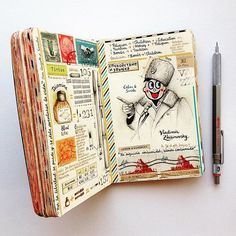 Here it is. I saw someone got it, maybe because of the Russian hat? Anyways, calm & smile. Moleskine.