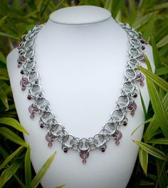 Chainmaille Collar with Amethyst Accents  Ready To by DaisiesChain, $50.00