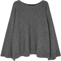 Womens Jumpers THE ROW Minola Grey Cashmere Jumper (3.121.750 COP) ❤ liked on Polyvore featuring tops, sweaters, cashmere sweater, cashmere tops, gray jumper, gray top and grey top
