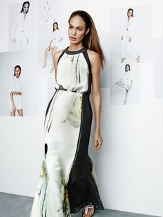 Glam it up. Joan Smalls for Studio. Joan Smalls, My Mom, Mothers, High Neck Dress, Studio, Dresses, Women, Fashion, Turtleneck Dress