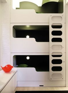 © ghislaine viñas interior design_07_6.jpg - three boys three beds.  Triple stacked bunk bed