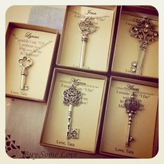 Skeleton Key, Bridesmaids Thank You Gifts, Ask Bridal Party, Wedding Party…