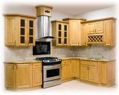 raised corner cabinet - nice look