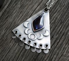 RESERVED  The Sea of the Edge  Sterling Silver and by spiralstone
