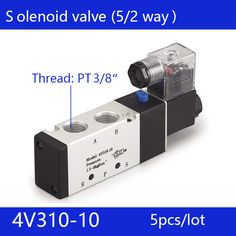 5pcs free shipping good qualty 5 port 2 position Solenoid Valve 4V310-10,have DC24v,DC12V,AC24V,AC110V,AC220V #Affiliate