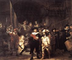 1. The Night Watch. 2. Rembrandt 3. 1642 Baroque 4. Oil on Canvas 5/6 Rijksmuseum  Amsterdam 9 heavy oil paint 10. civic guard company
