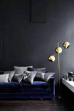 Dark living room furniture