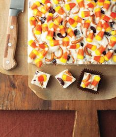 candy corn fudge... only making this if i have a party. otherwise it's kind of insane.