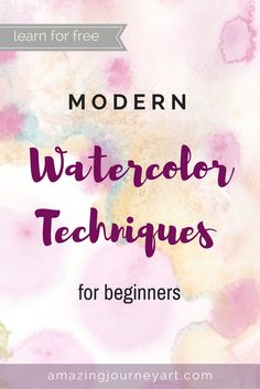 Modern watercolor techniques for beginners - a great art tutorial step by step for anyone who wants to learn to paint with watercolor. You will learn aquarell basics, thought by a great artist and illustrator, in less than 3 hours. This free tutorial will help you to discover new painting ideas, practice with watercolor exercises, get familiar with watercolor paint, and much more. This and thousands of other free online courses  are available on Skillshare during a trial.