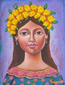 $299.99 German Rubio Mexican Art Painting #germanrubio #mexicanart #rosaritoartfest #losnaguales.com