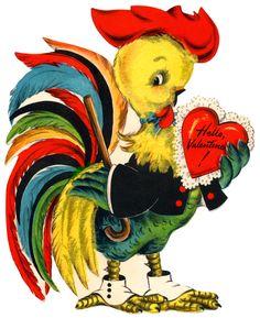 Vintage Rooster Valentine
