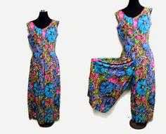 Sale 60s Palazzo Jumpsuit 1960s Hawaiian Jumpsuit by SissysVintage