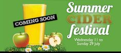 Summer Cider Festival at Wetherspoon http://www.ukcider.co.uk/wiki/index.php/Wetherspoons