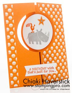 October 21st, 2014 Chiaki Haverstick Stamping Pro: Animal Party Zoo Babies, Remembering your Birthday, Sweet Taffy DSP, Circle Card Thinlit, Circles Collection framelits, Star punch