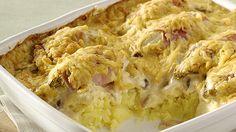 Witloof-hamrolletjes met puree in de oven