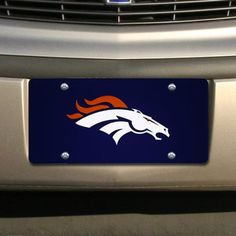 """Denver Broncos Navy Blue Mirrored License Plate by Football Fanatics. $30.41. Made in America. Made of shatterproof mirrored acrylic. Tag is approximately 1/8"""" in thickness. 12"""" x 6"""". Laser cut acrylic inlay. Jazz up your ride with this classic laser cut mirrored license plate!Laser cut acrylic inlayTag is approximately 1/8"""" in thicknessMade of shatterproof mirrored acrylicMade in America12"""" x 6""""Officially licensed NFL product"""
