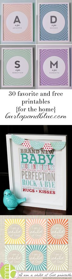 favorite and free printables for the home!