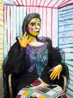 Picasso's Dora Maar (Series 001 with Barbara) 2016-02-08 - Picassos portrait of Dora Maar in my studio... Barbara (model) with more than one view :-) - I Love Picassos work!  make-up and bodypainting: Birgit Mörtl model: Barbara Jelica setdesign: Birgit Mörtl, Tanja Steinthaler, Maria Wawrzyniak  foto: Tinefoto   Martin Steinthaler