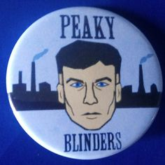Peaky Blinders. Tommy Shelby. Custom 38mm Pin Badge. #PeakyBlinders #TommyShelby #ThomasShelby #CillianMurphy #TVShow