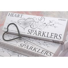 Heart Shaped Wedding Sparklers - 72 Sparklers Wedding Favors