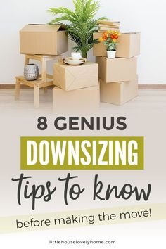 I remember searching for downsizing tips before we moved to a small home.I was completely overwhelmed with decluttering and the idea that I was somehow demeaning myself because I was moving to a smaller space – crazy, right? Minimalist Living Tips, Minimal Living, Simple Living, Clutter Organization, Home Organization Hacks, Organizing, Small Space Living, Small Spaces, Downsizing Tips