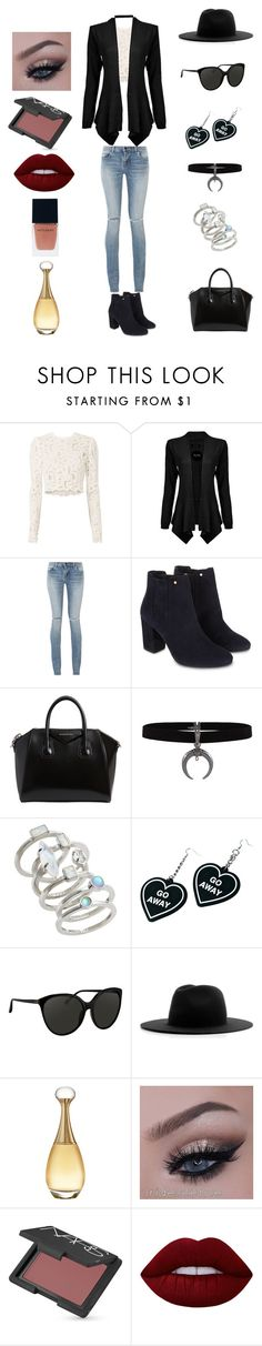 """On the Town Look"" by magicfeatherwriter on Polyvore featuring A.L.C., Yves Saint Laurent, Monsoon, Givenchy, Kendra Scott, Witch Worldwide, Linda Farrow, Études, Christian Dior and NARS Cosmetics"