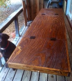 Wooden Stained Table 8' x 2' Beer Pong by WoodworkingAmateurs, $125.00