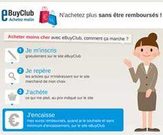eBuyClub propose jusqu'à 50% de cashback sur les achats effectués dans ses boutiques partenaires + 5 euros de bonus offerts à l'inscription via Maxi Bons Plans...