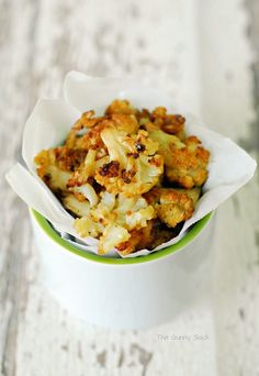 Cauliflower Poppers Recipe. -- so good and really tasted like potatoes.