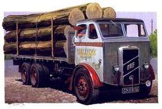 Mike Jeffries - Art (Page of Vintage Trucks, Old Trucks, Transport Pictures, Old Lorries, Nostalgic Art, Road Transport, Truck Art, Bus Coach, Train Car