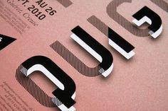 Nur ein kleiner Ausschnitt auf eine sehr interessante Typo, die quasi aus dem Papier heraustritt durch die weißen Elemente unter dem Transparentpapier. (Das sieht man nur wenn man dem Link folgt... ;-) ) | | #design #grafikdesign | | Mehr Inspiration auf www.dermichael.net