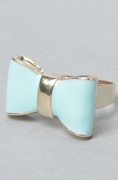 blue bow ring would pick a different color but very cute