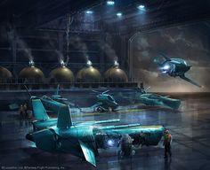 Corellian hangar // by Ben Zweifel