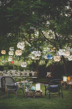 Table de fête au jardin Vosges Paris via Nat et nature