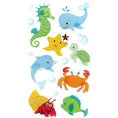 Baby Sea Creatures 3-D Sticker Embellishments