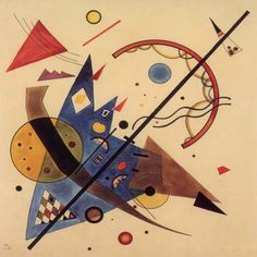 Wassily Kandinsky he mixed music and art and you can see it here.